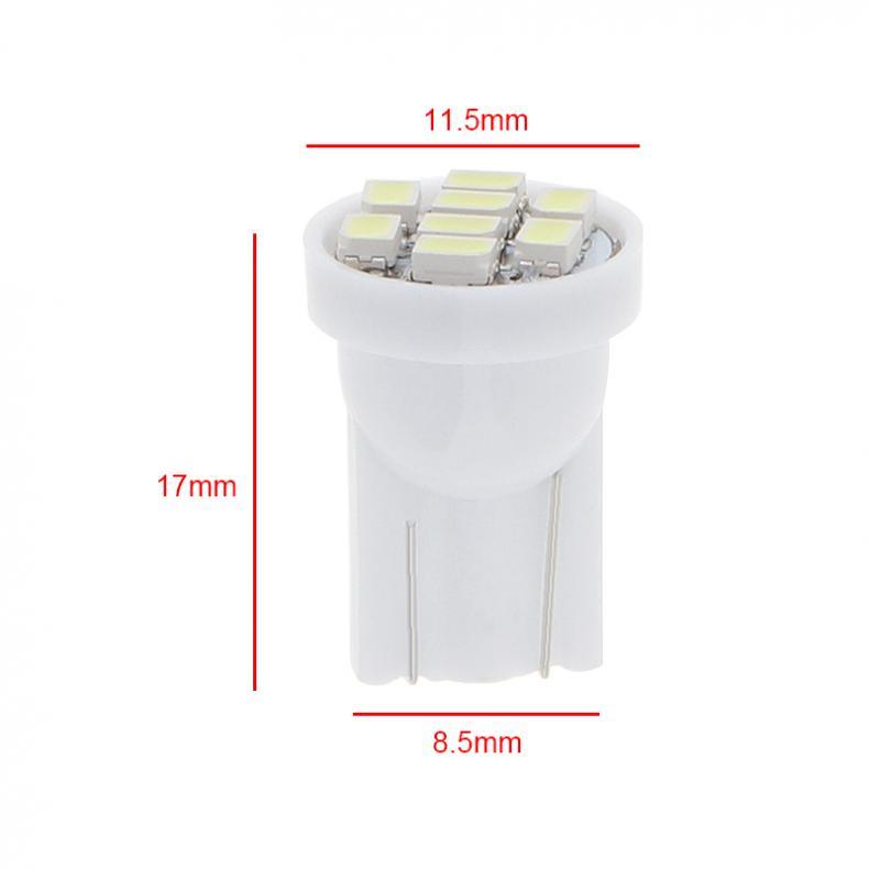 20 12V W5W T10 194 168 2825 501 192 158 White LED Side Car Wedge Light Lamp Bulb 2