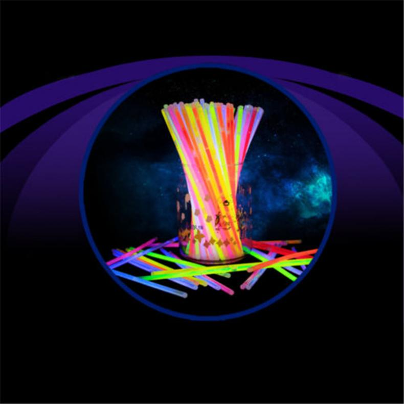 100x-8-Inch-Glow-Sticks-Bracelets-Necklaces-Fluorescent-Neon-Light-Sticks-Party thumbnail 5