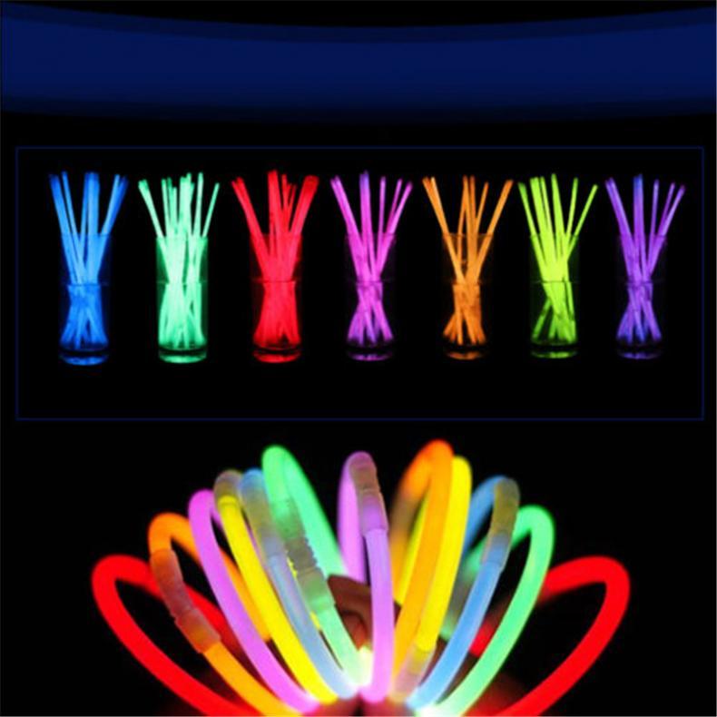 100x-8-Inch-Glow-Sticks-Bracelets-Necklaces-Fluorescent-Neon-Light-Sticks-Party