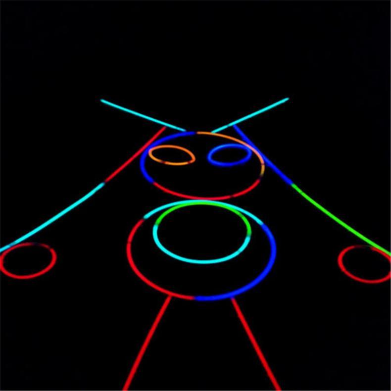 100x-8-Inch-Glow-Sticks-Bracelets-Necklaces-Fluorescent-Neon-Light-Sticks-Party thumbnail 7