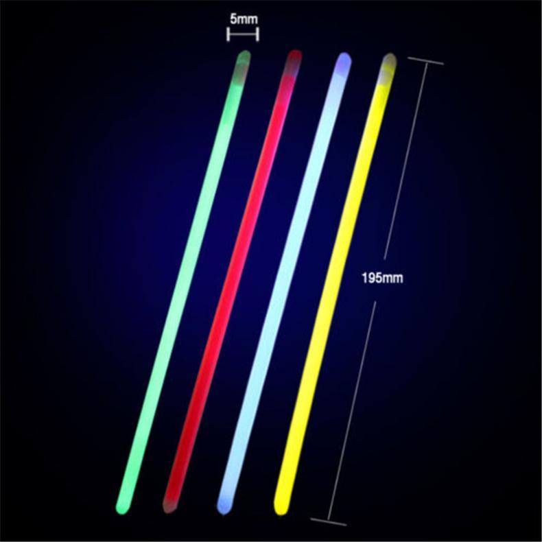 100x-8-Inch-Glow-Sticks-Bracelets-Necklaces-Fluorescent-Neon-Light-Sticks-Party thumbnail 2