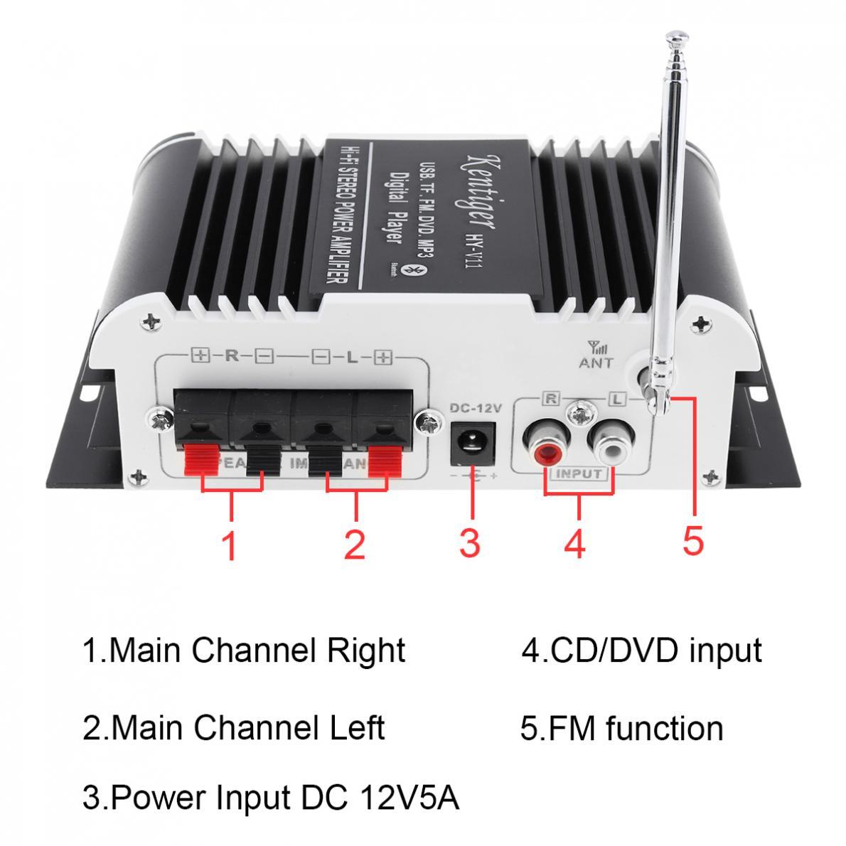 2CH-HI-FI-Bluetooth-Car-Audio-Amplifier-FM-Radio-SD-USB-MP3-Player-Home-Amp thumbnail 3