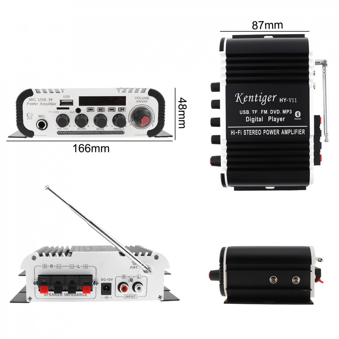 2CH-HI-FI-Bluetooth-Car-Audio-Amplifier-FM-Radio-SD-USB-MP3-Player-Home-Amp thumbnail 5