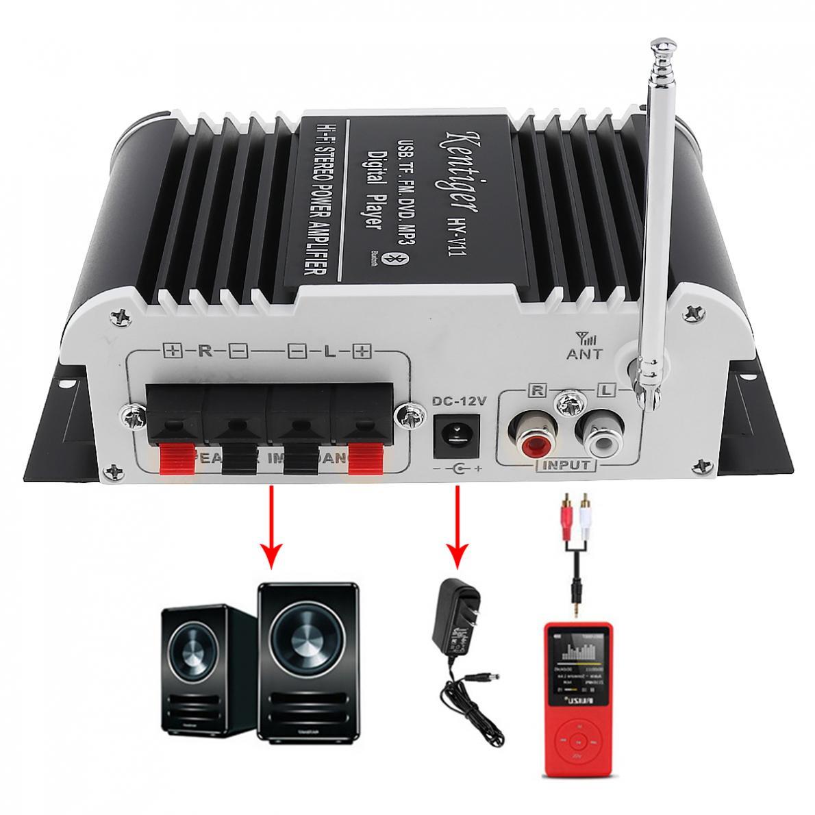 2CH-HI-FI-Bluetooth-Car-Audio-Amplifier-FM-Radio-SD-USB-MP3-Player-Home-Amp thumbnail 6