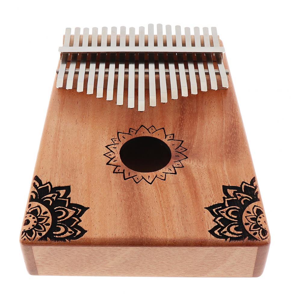 17-Key-Kalimba-Thumb-Piano-Mbira-Mahogany-Mini-Keyboard-Instrument-with-Flowers thumbnail 6