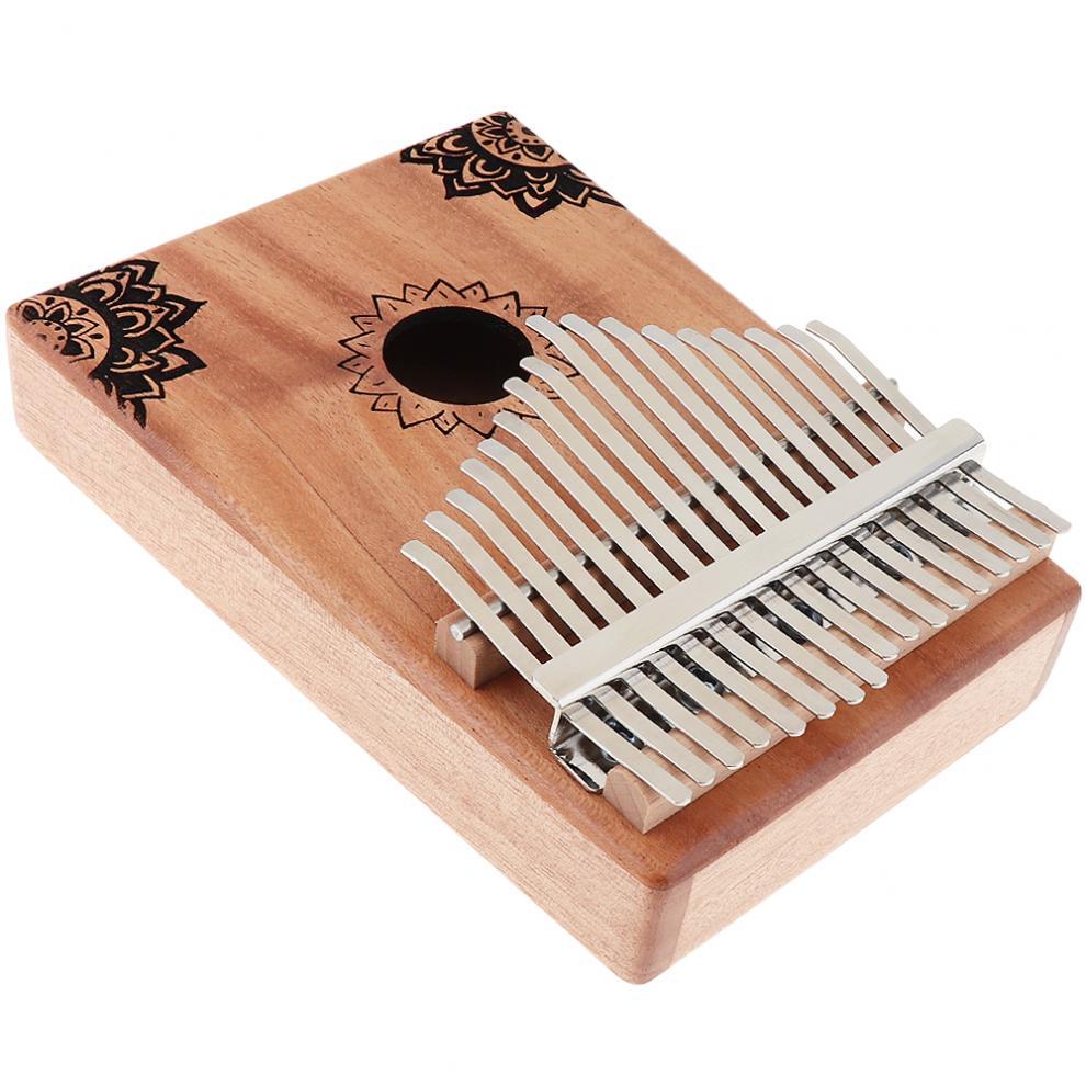 17-Key-Kalimba-Thumb-Piano-Mbira-Mahogany-Mini-Keyboard-Instrument-with-Flowers thumbnail 7