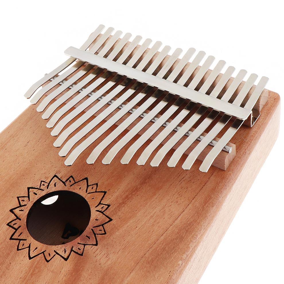 17-Key-Kalimba-Thumb-Piano-Mbira-Mahogany-Mini-Keyboard-Instrument-with-Flowers thumbnail 8