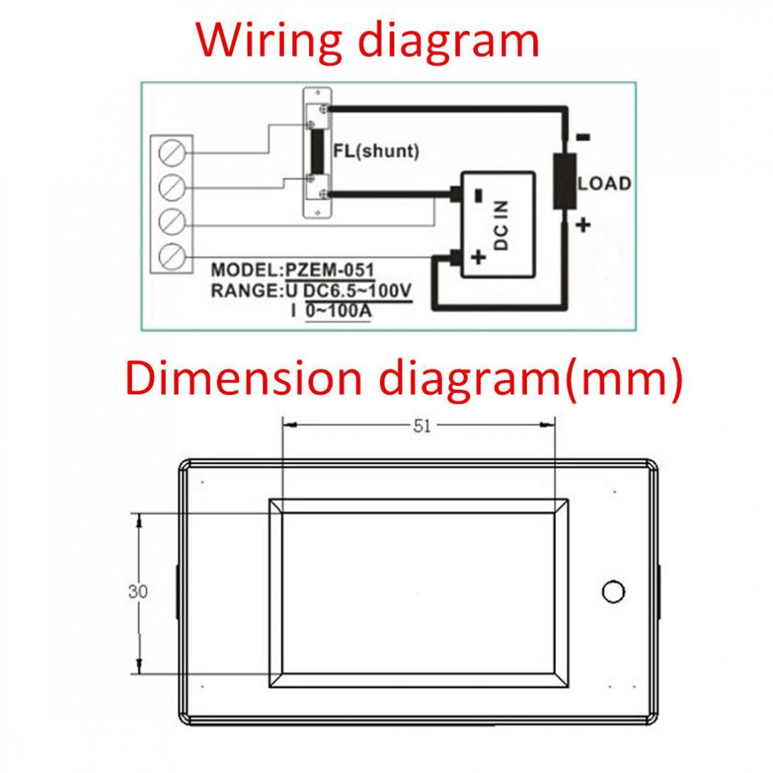 Digital Lcd Power Watt Meter Monitor Voltage Kwh Ammeter Voltmeter Dc Shunt Wiring Diagram