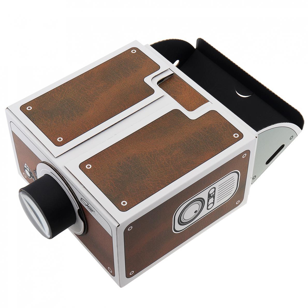 Mini DIY Cardboard Movie Portable Projector Cinema For ...